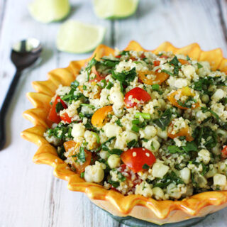 Tomato and Corn Tabbouleh Salad | SoupAddict.com