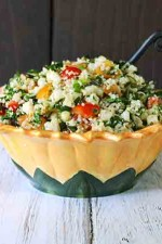 Tomato and Corn Tabbouleh with Kale from SoupAddict.com