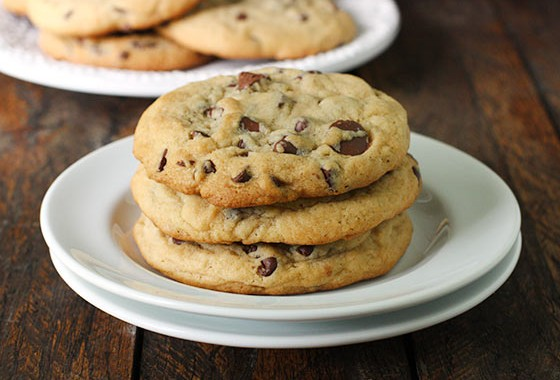 XXL Soft Baked Chocolate Chip Cookies from SoupAddict.com