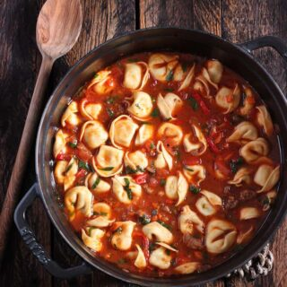 Italian Tortellini Soup with Sausage