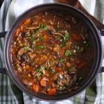 Mushroom Lentil Adzuki Bean Soup from SoupAddict.com