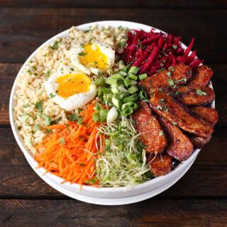 Smoky Tempeh Vegetable and Rice Bowl | SoupAddict.com