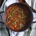 Mushroom Lentil Adzuki Bean | SoupAddict.com