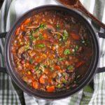 Mushroom Lentil Adzuki Bean Soup