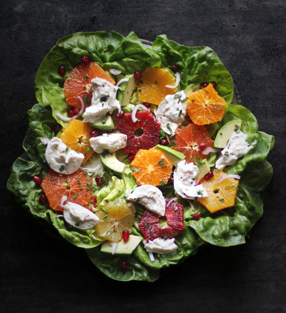 Winter Citrus Salad with Burrata | SoupAddict.com