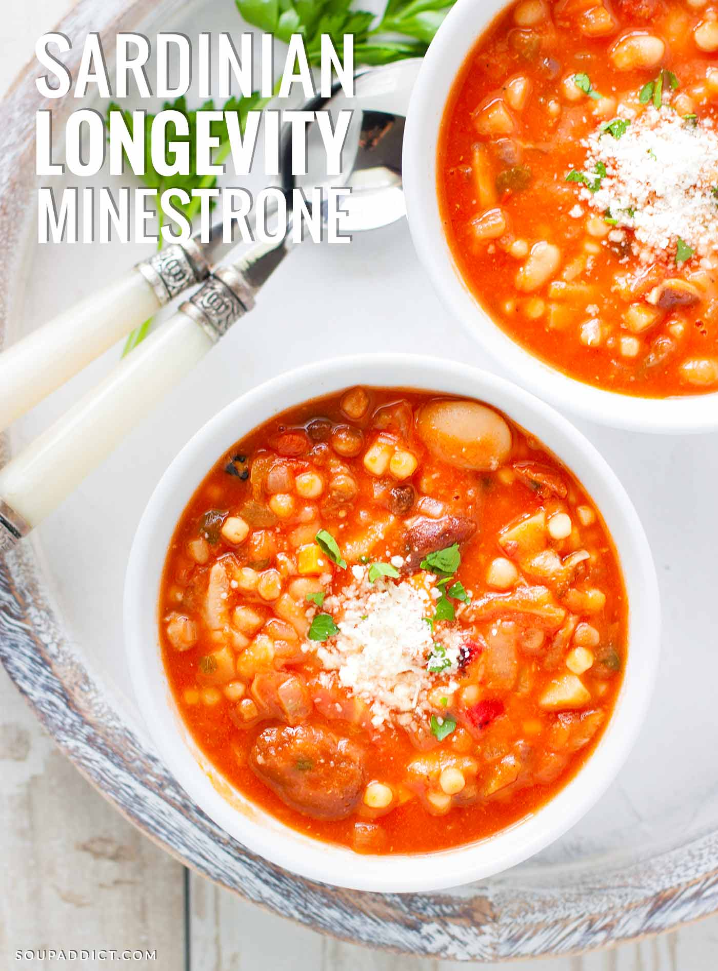 Sardinian Longevity Minestrone Soup | Recipe at SoupAddict.com