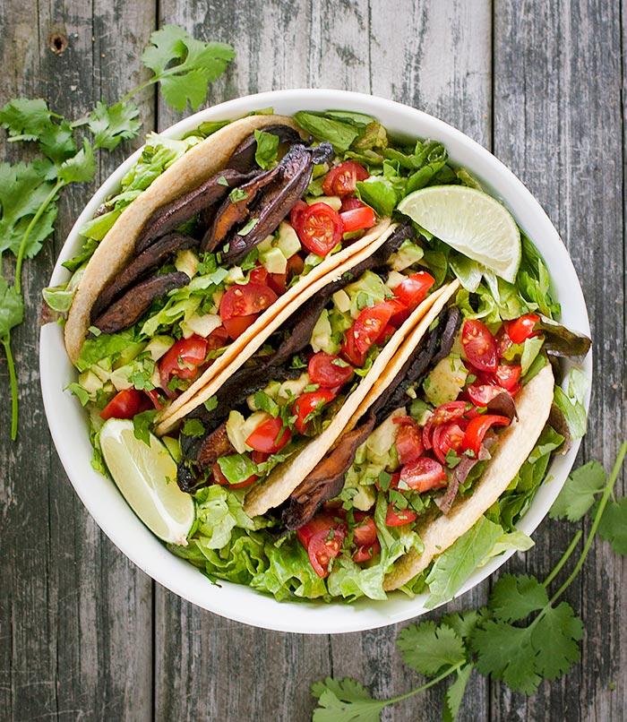 Vegetarian BLT Tacos | SoupAddict.com