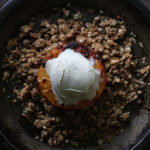 Grilled Peaches with Oat Streusel from SoupAddict.com