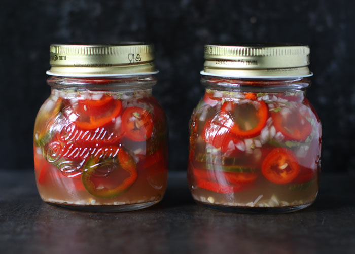 Refrigerator Pickled Jalapenos from SoupAddict