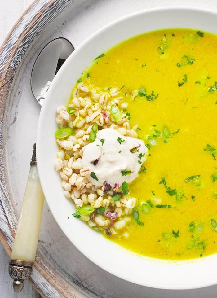 Lemongrass Curry Soup with Cashew Cream | SoupAddict.com