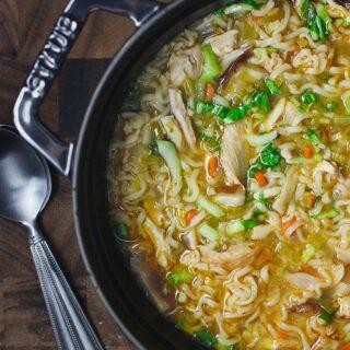 Thai Ramen Noodle Chicken Soup | SoupAddict.com