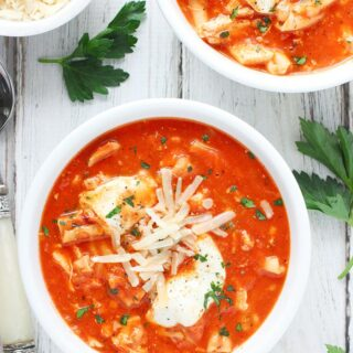 Fast and Easy Chicken Parmesan Soup