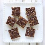 Chocolate Chip Shortbread Bars with Kahlua Glaze | SoupAddict.com