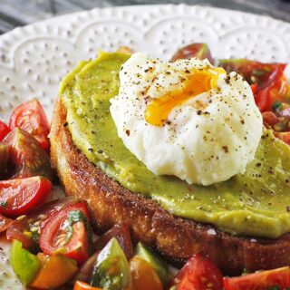 Avocado Fried Toast with Poached Egg