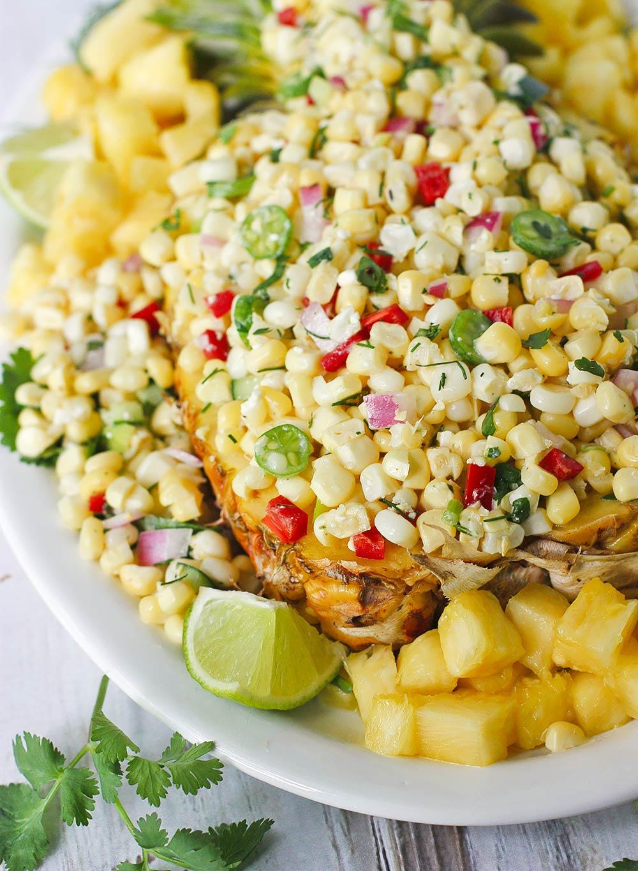 Sunshine Fruit & Veggie Salad Party Platter | SoupAddict.com