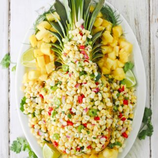 Sunshine Veggie Salad & Pineapple Party Platter