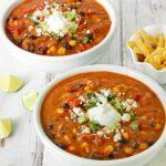 Sausage & Black Bean Enchilada Soup | SoupAddict.com