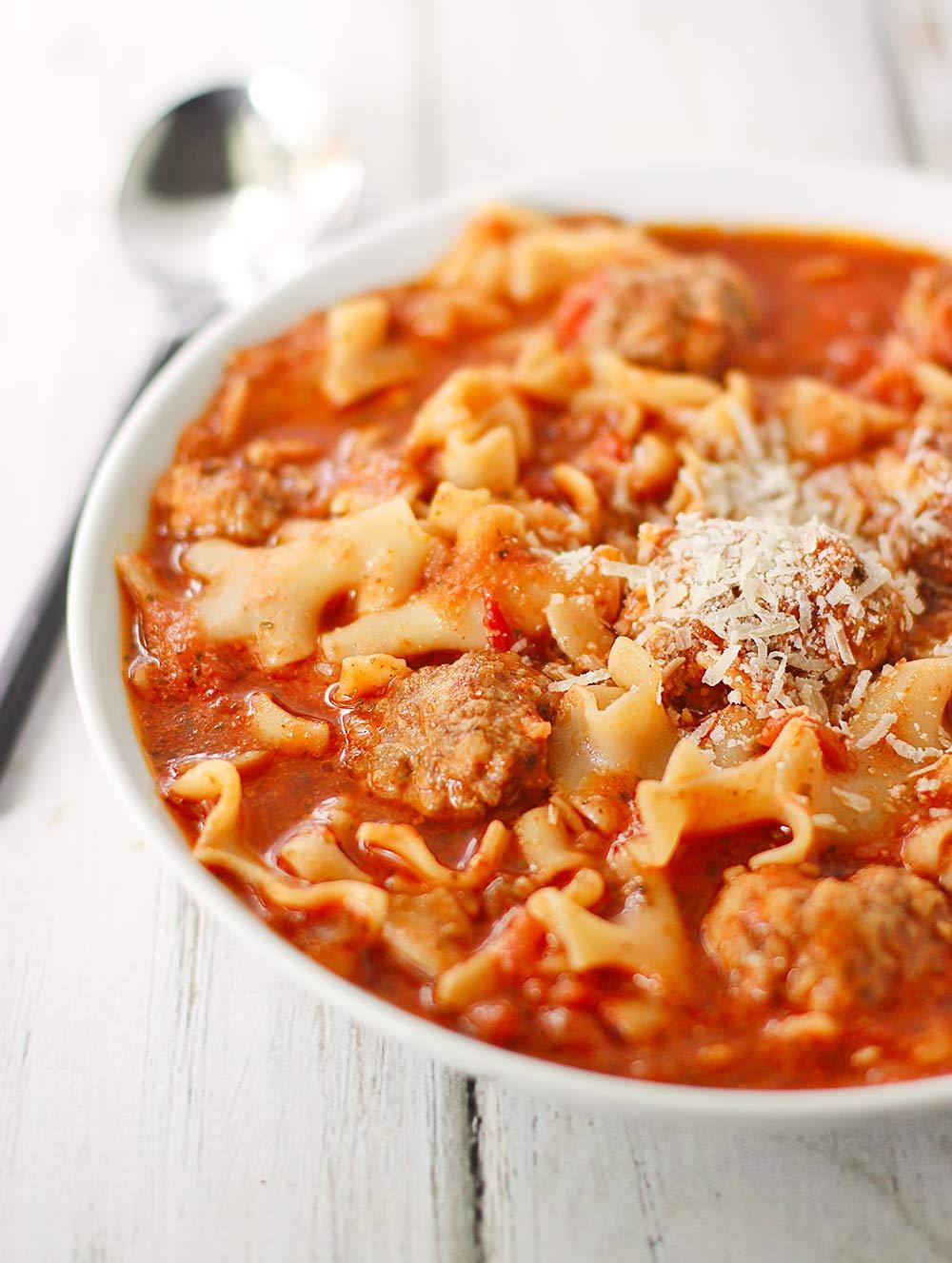 Ricotta Meatball Soup   SoupAddict.com