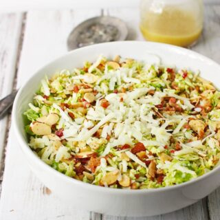 Brussels Sprouts Salad with Apple, Fennel, and Bacon