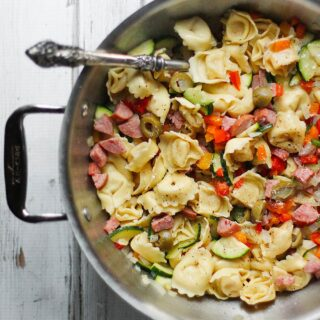 Smoked Turkey Sausage Tortellini Vegetable Saute