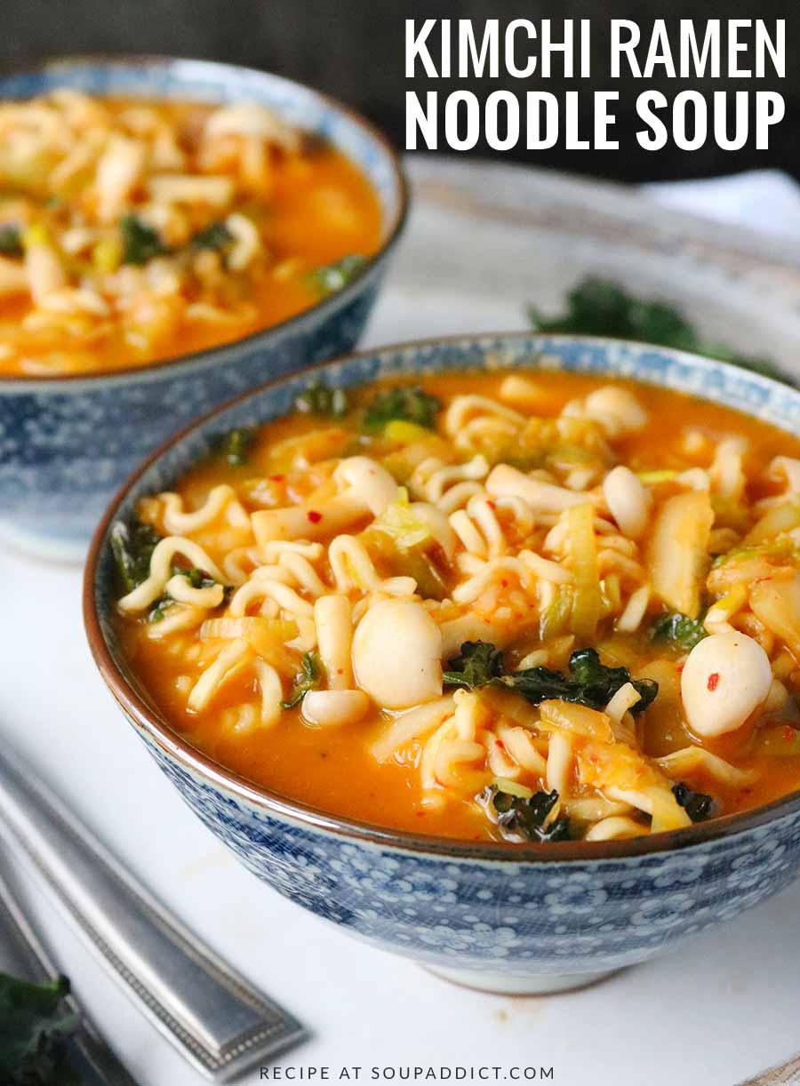 Kimchi Ramen Noodle Soup