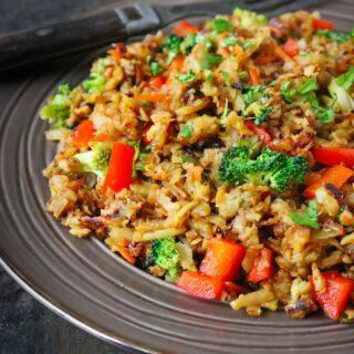 Sweet Potato Fried Rice Stir Fry