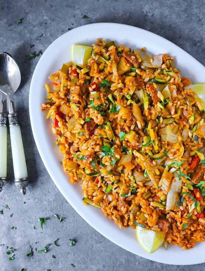 Vegetarian Paella   Recipe at SoupAddict.com