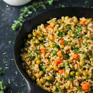 Rice Medley with Peas, Carrots & Chimichurri