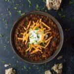Vegetarian Lentil Chili. Recipe at SoupAddict.com | lentils | chili | vegetarian | vegan | food in bowls