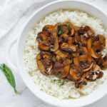 Balsamic Mushrooms with Tarragon Rice   Recipe at SoupAddict.com