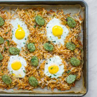 Sheet Pan Hash Browns Brunch Bake from SoupAddict.com
