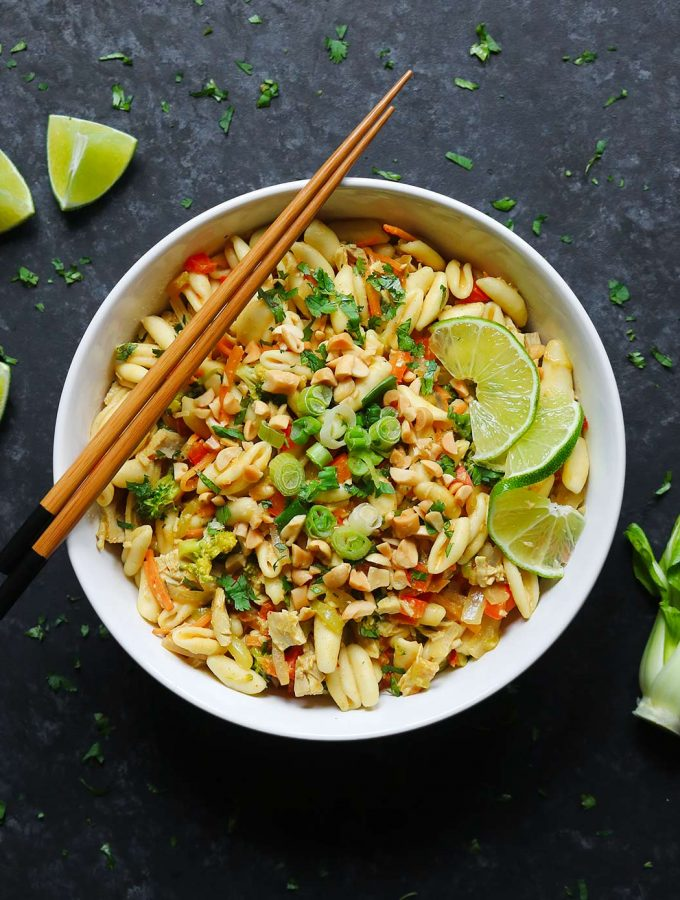 Thai Pasta with Chicken   Recipe at SoupAddict.com