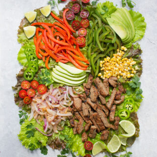 Beef Fajita Salad with Creamy Salsa Dressing