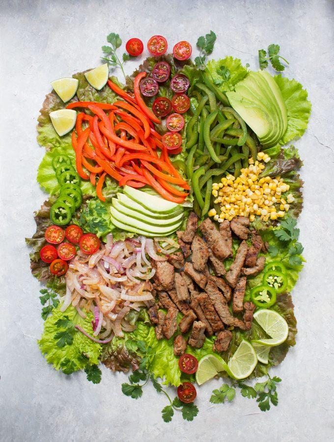 Beef Fajita Salad with Creamy Salsa Dressing | Recipe at SoupAddict.com