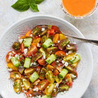 Tomato Lover's Tomato Salad   Recipe at SoupAddict.com