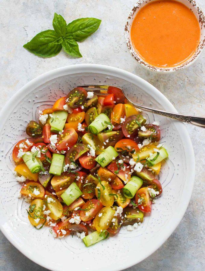 Tomato Lover's Tomato Salad | Recipe at SoupAddict.com