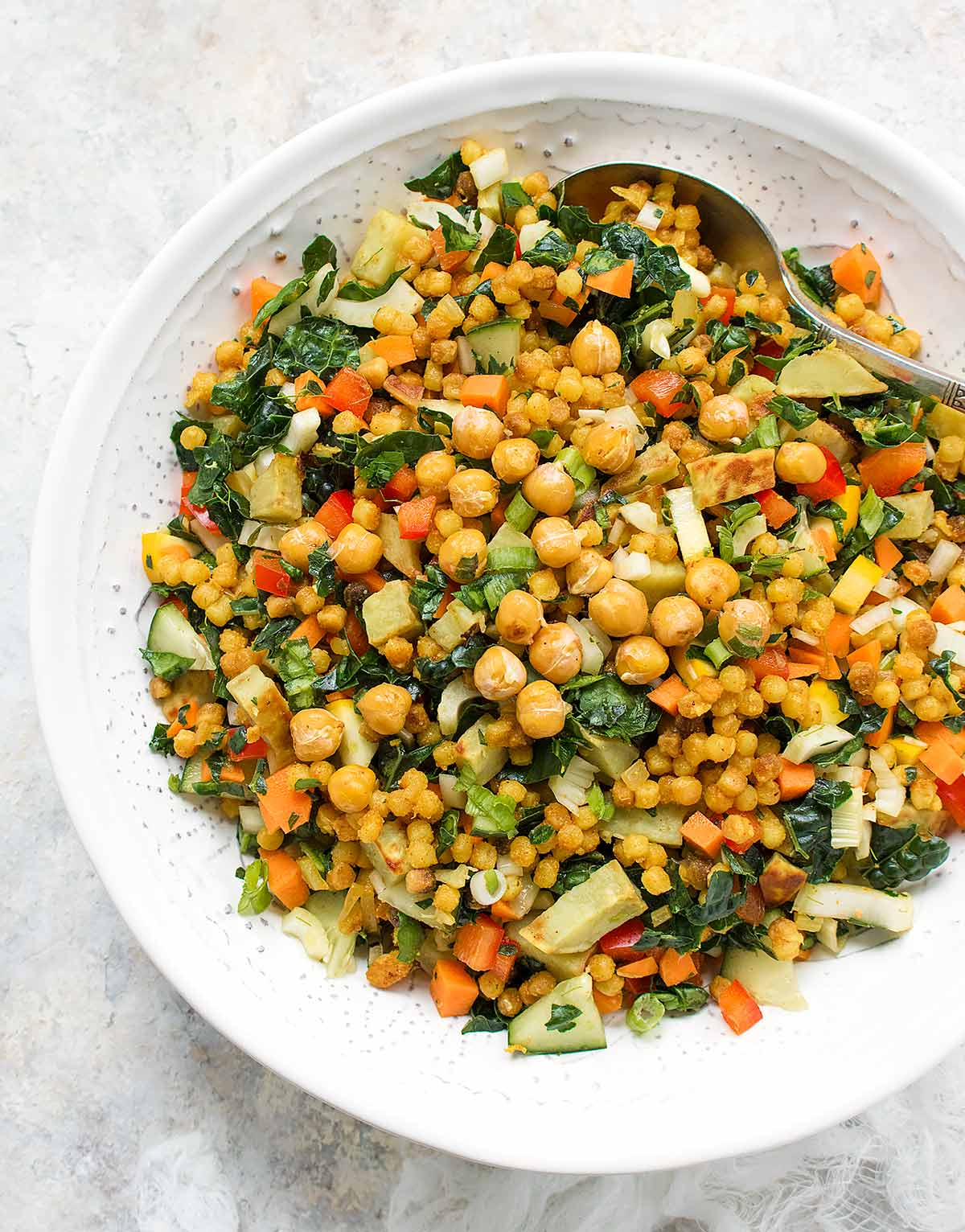 Fall israeli couscous salad for Couscous food recipe