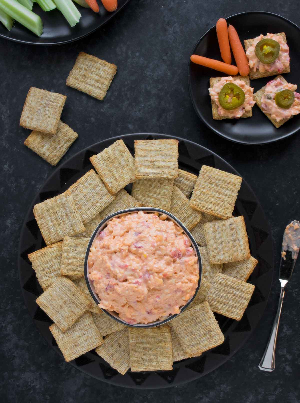 Spicy Pimento Cheese served with Triscuits