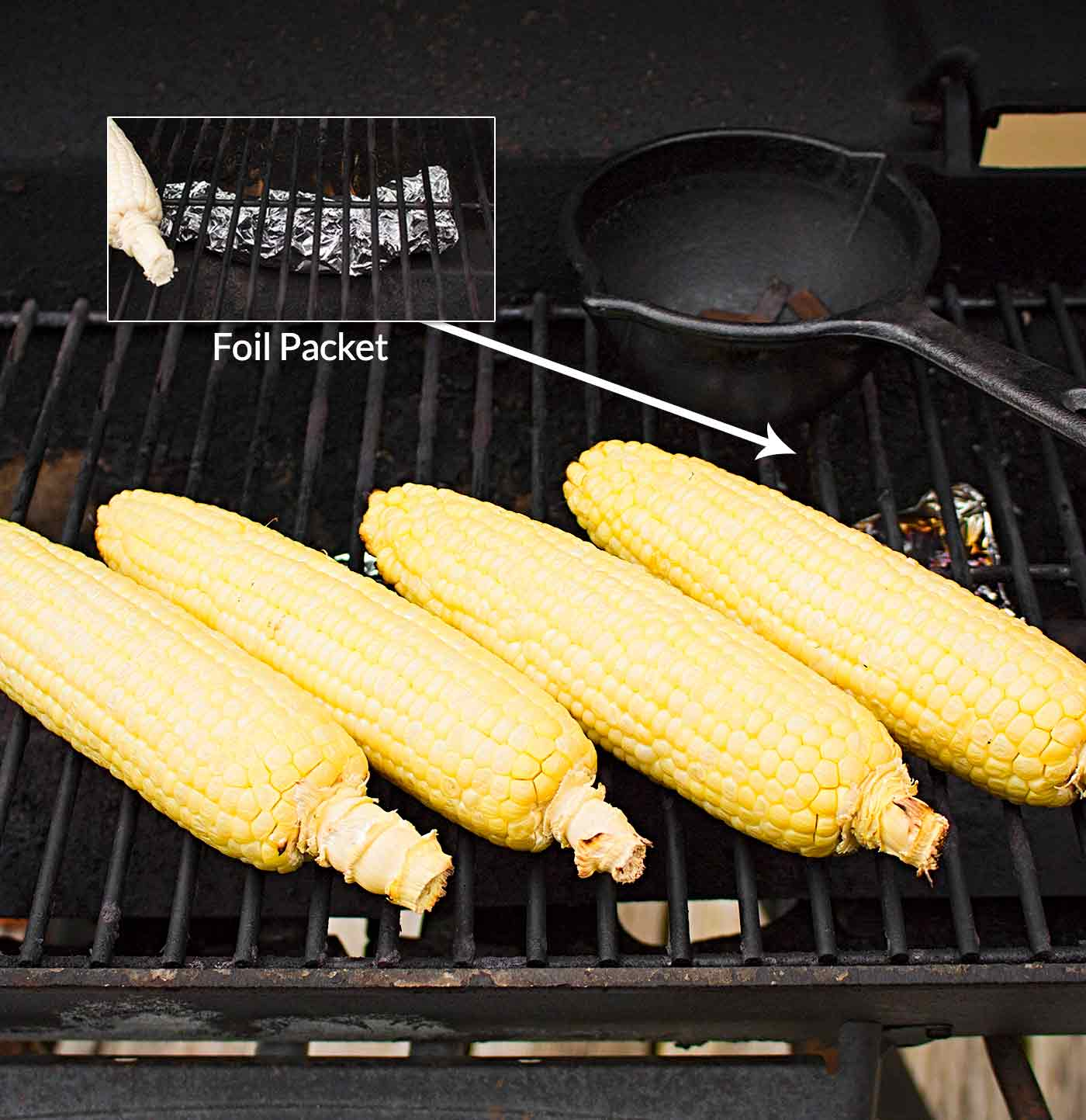 Corn smoked on the grill for Instant Pot Smoked Corn Stock