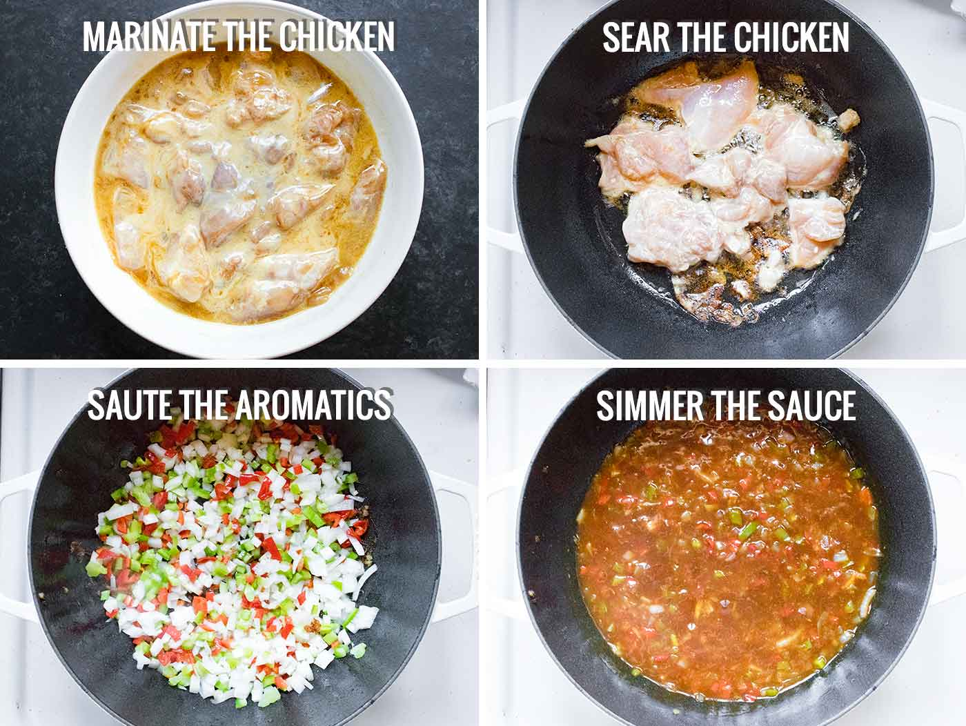Steps for making General Tso's Chicken Soup