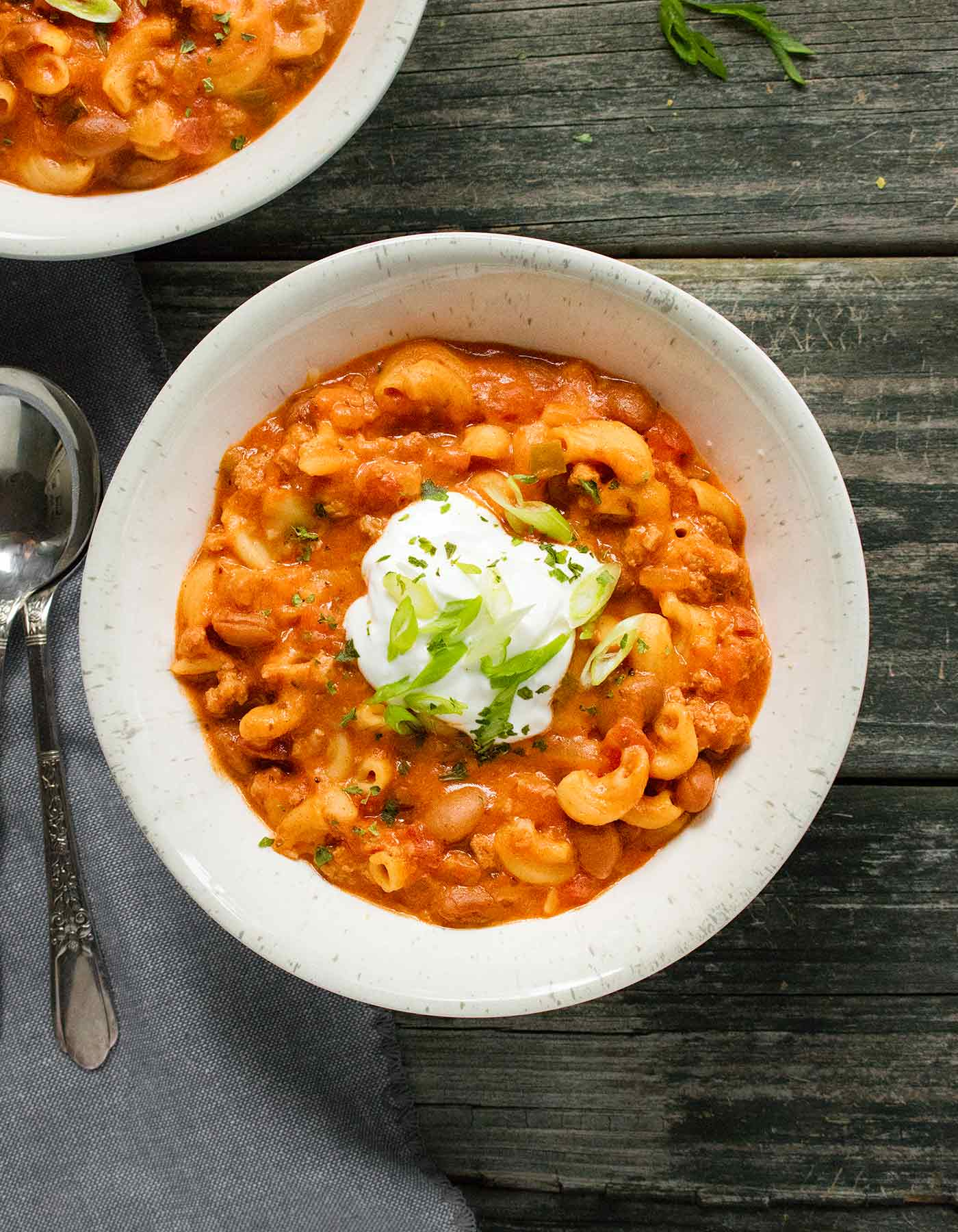 Instant Pot Chili Mac with Turkey and Cheese | Recipe at SoupAddict.com
