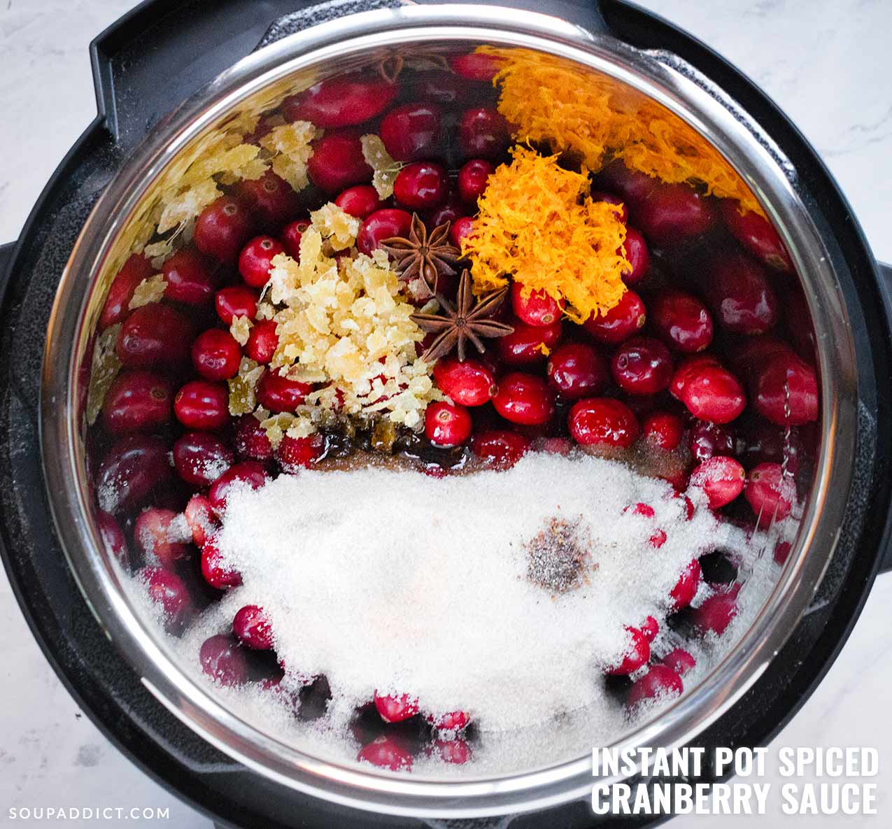 Instant Pot Spiced Cranberry Sauce - Recipe at SoupAddict.com