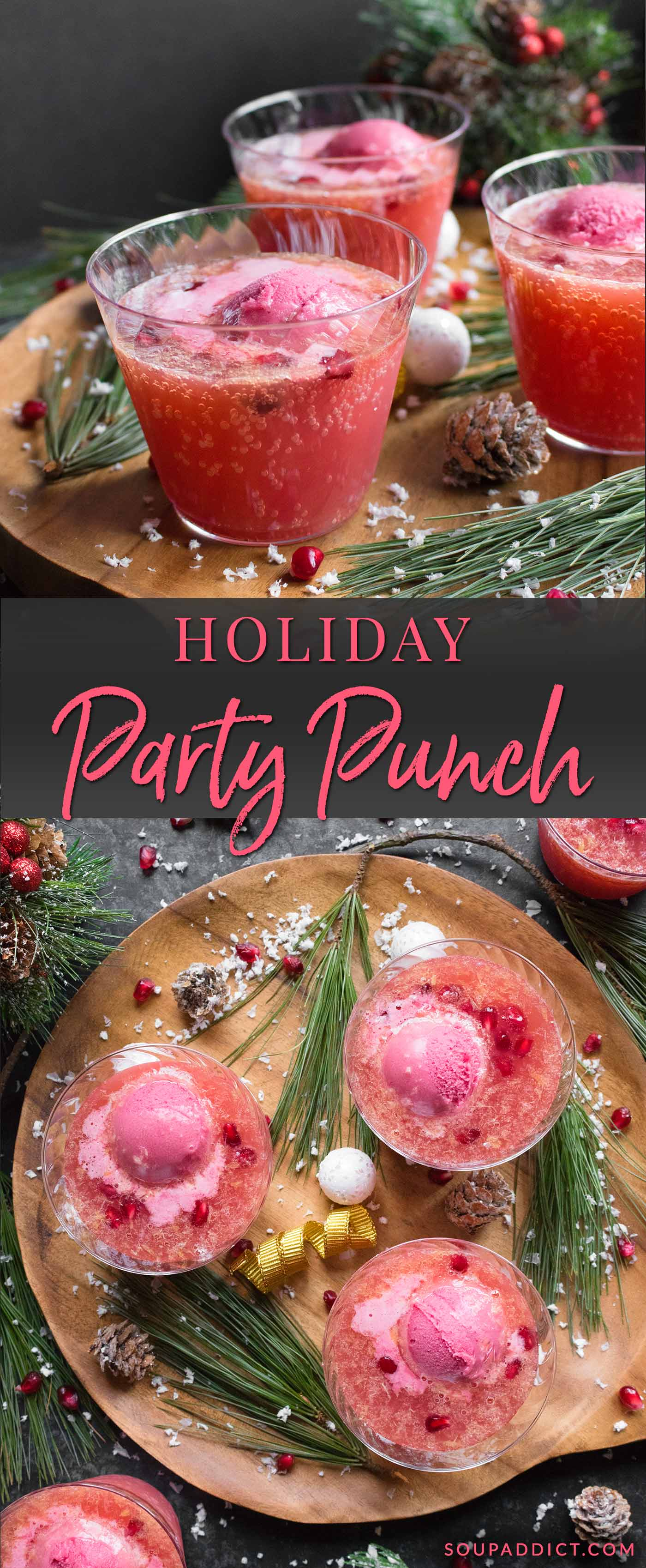 Holiday Party Punch - Recipe at SoupAddict.com