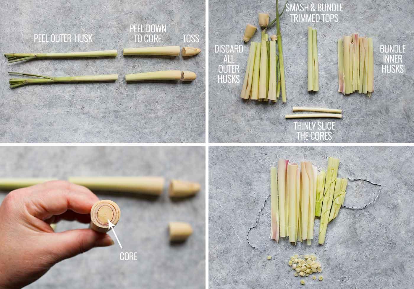 Tips for preparing fresh lemongrass