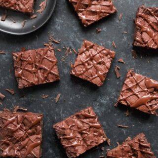 Bowl-lickin' vegan brownies