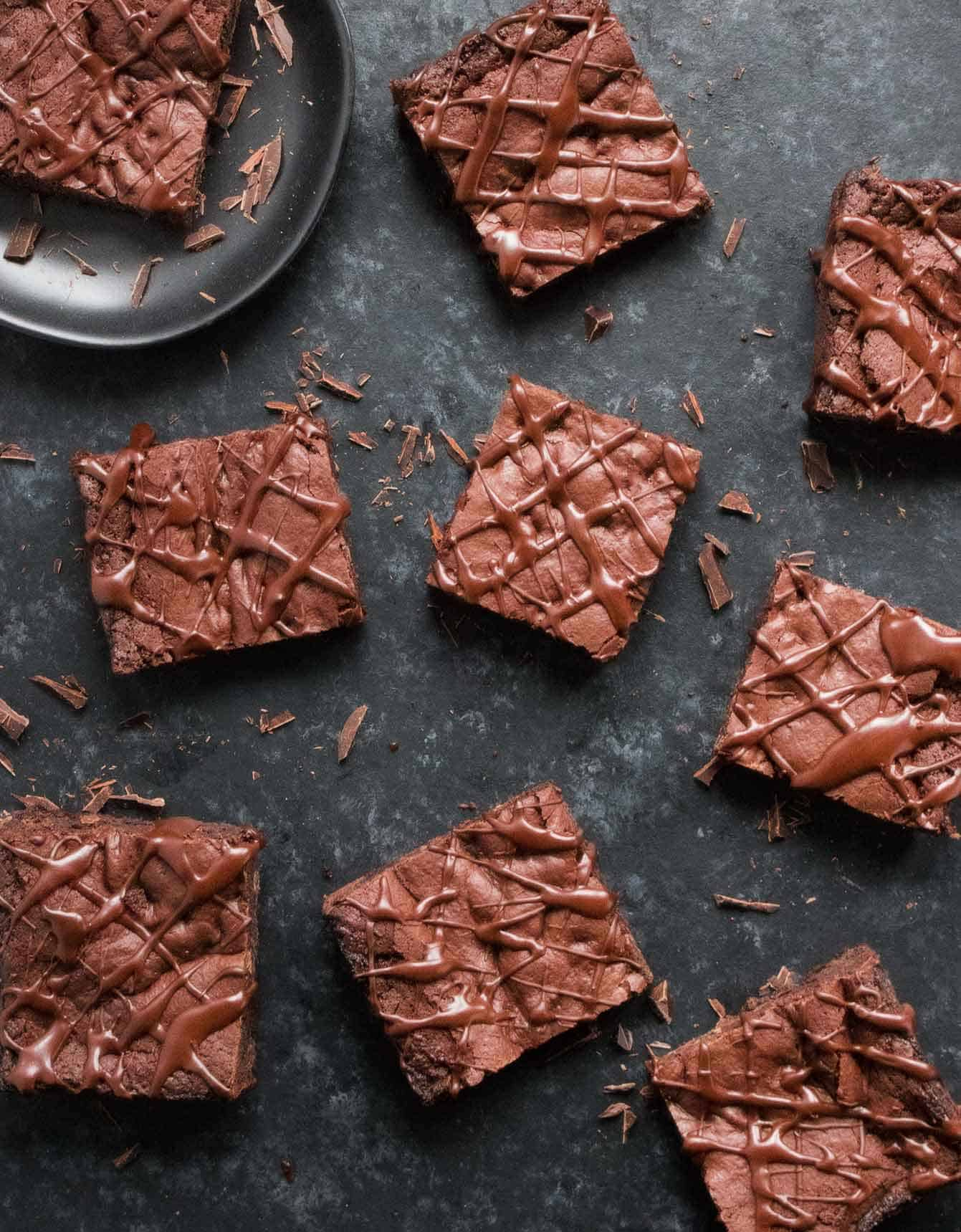 Bowl-lickin' vegan brownies