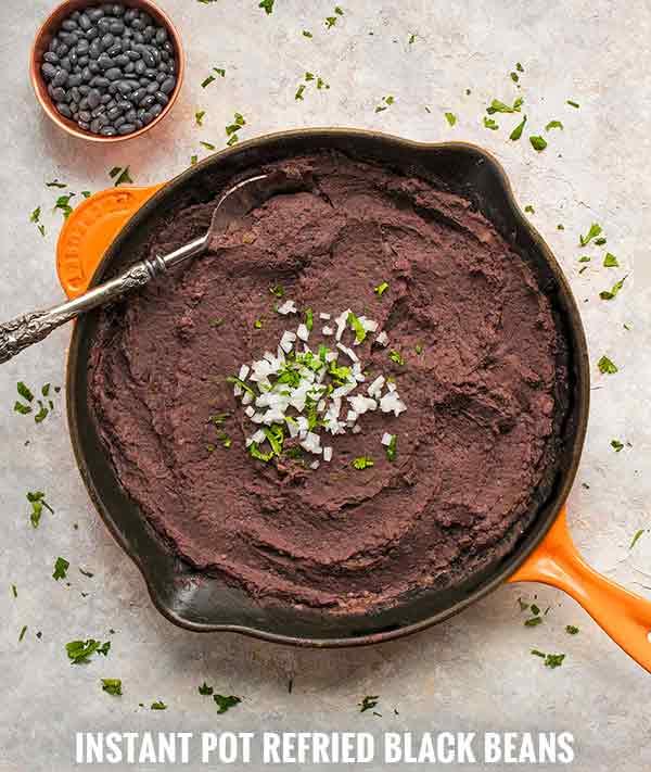 Instant Pot Refried Black Beans - Recipe at SoupAddict.com