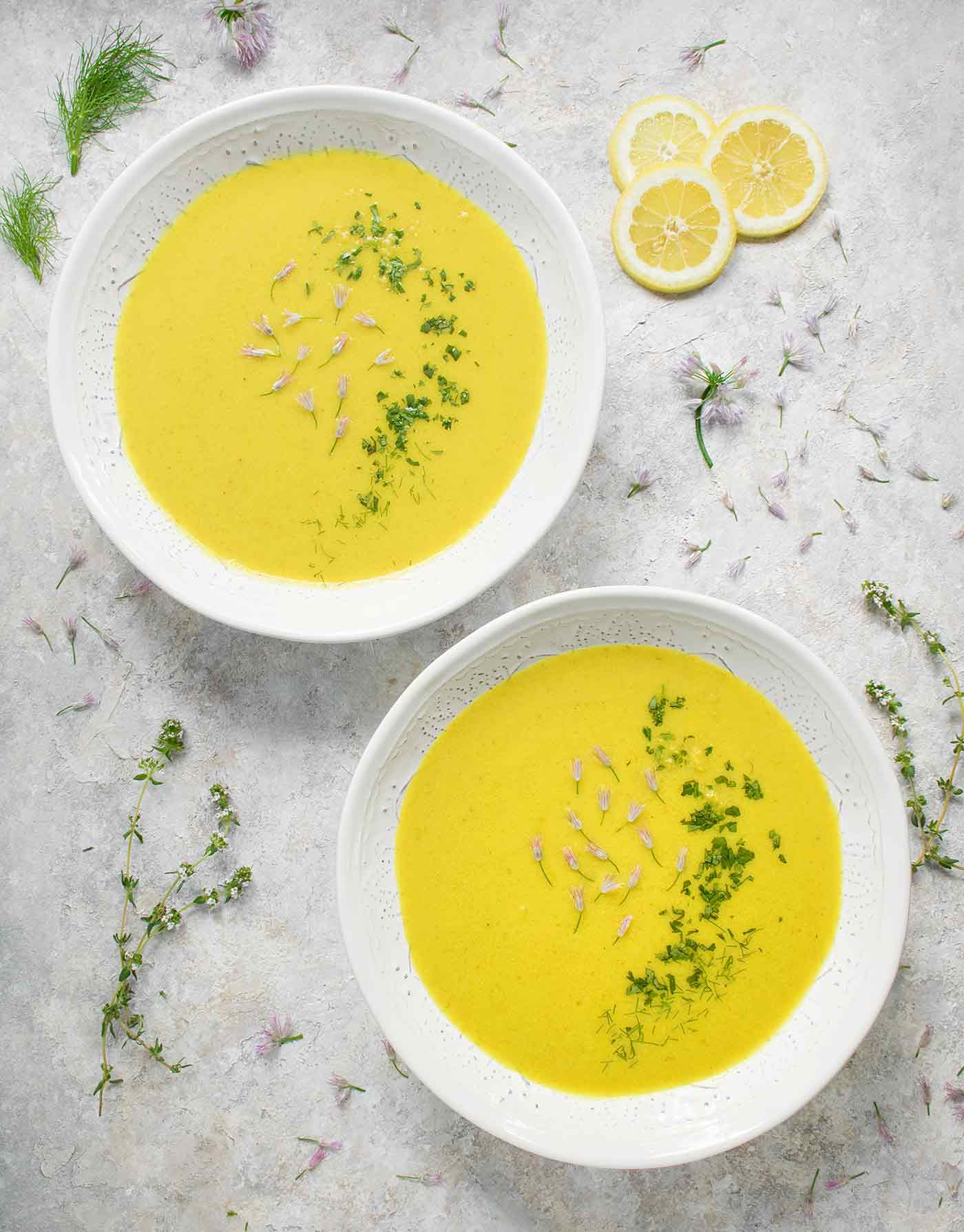 Spring Cauliflower Fennel Soup