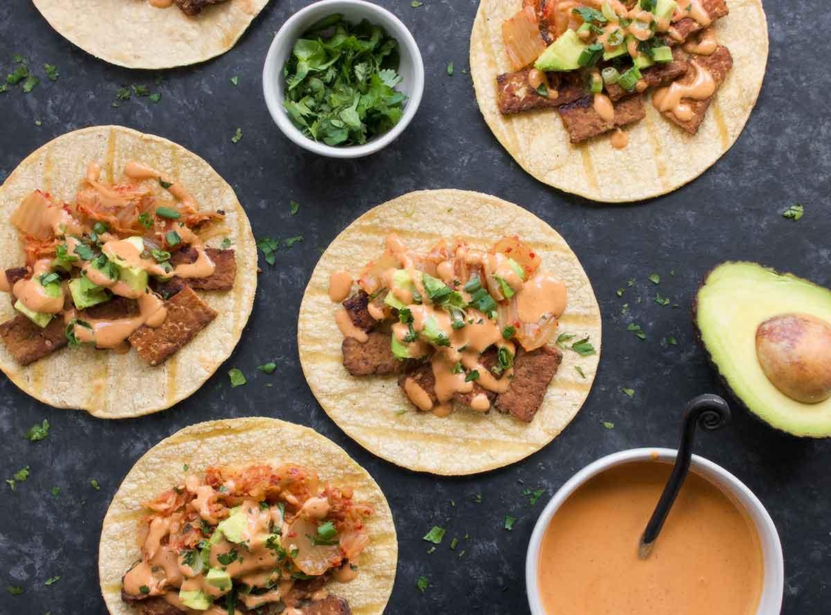 Kimchi tacos