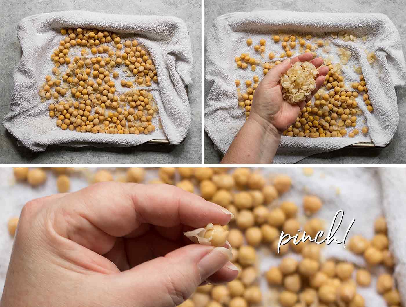 How to peel chickpeas